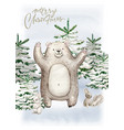 Christmas woodland cute forest cartoon raccoon