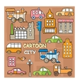 City in style cartoon vector image