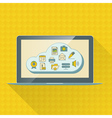Cloud computing service infographics with icons vector image