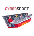 cybersport icon of team on vector image vector image
