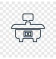 desk concept linear icon isolated on transparent vector image