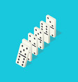 falling dominoes domino effect chain reaction vector image