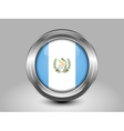 Flag of Guatemala Metal Round Icon vector image