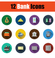 Flat design bank icon set vector image vector image
