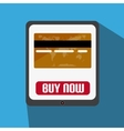 Flat Design With Tablet With Credit Card vector image vector image