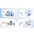 flat landing page set for business and security vector image vector image