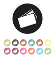 floating credit card icon set vector image vector image