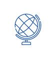 globe line icon concept globe flat symbol vector image