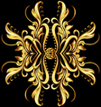 Gold texture vector image vector image