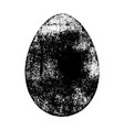 grunge isolated egg vector image vector image