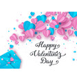 happy valentines day typography banner vector image vector image