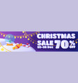 horizontal banner template design christmas sale vector image
