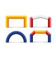 inflatable arch sponsor balloon banner marathon vector image