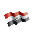 iraqi flag on a white vector image vector image