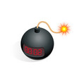 isometric bomb icon tnt time vector image vector image