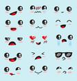 kawaii cute face character vector image vector image