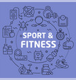 linear sport fitness vector image