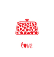 Love clutch with hearts Love card vector image