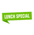lunch special speech bubble lunch special ribbon vector image vector image