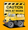 man at work vector image vector image