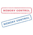 memory control textile stamps vector image vector image