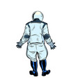 modern astronaut stands with his back vector image vector image