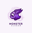 monster logo design vector image