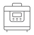 multicooker thin line icon kitchen and cooking vector image vector image