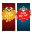 New year banners Presents and decorations on vector image