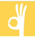 ok hand sign vector image
