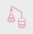 outline isometric test tube icon vector image vector image