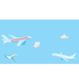 Passenger airplanes vector image vector image