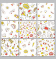 patch seamless set on white background vector image vector image