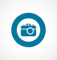 photo camera bold blue border circle icon vector image vector image