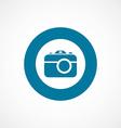 photo camera bold blue border circle icon vector image vector image