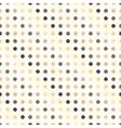 Polka dot seamless pattern in vintage colors vector image vector image
