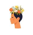 psychology mental health woman character vector image