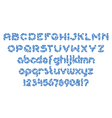 round dashed line font 01 vector image