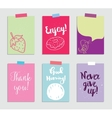 Set of creative 6 journaling cards vector image vector image