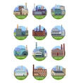 Set of Factory Building Banners vector image vector image