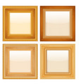 set of golden vintage frames vector image vector image
