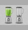 set realistic juicer blender kitchen blender vector image vector image