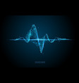 sound wave low poly wireframe banner template vector image vector image