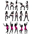 sport silhouettes women vector image vector image