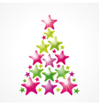 Star Christmas tree vector image