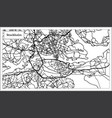 stockholm sweden map in black and white color vector image vector image