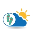summer vacation design beach sandals vector image