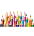 vector bunch of colored pencils vector image