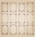 vintage decorative calligraphic frames vector image vector image