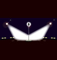 wide stage vector image vector image